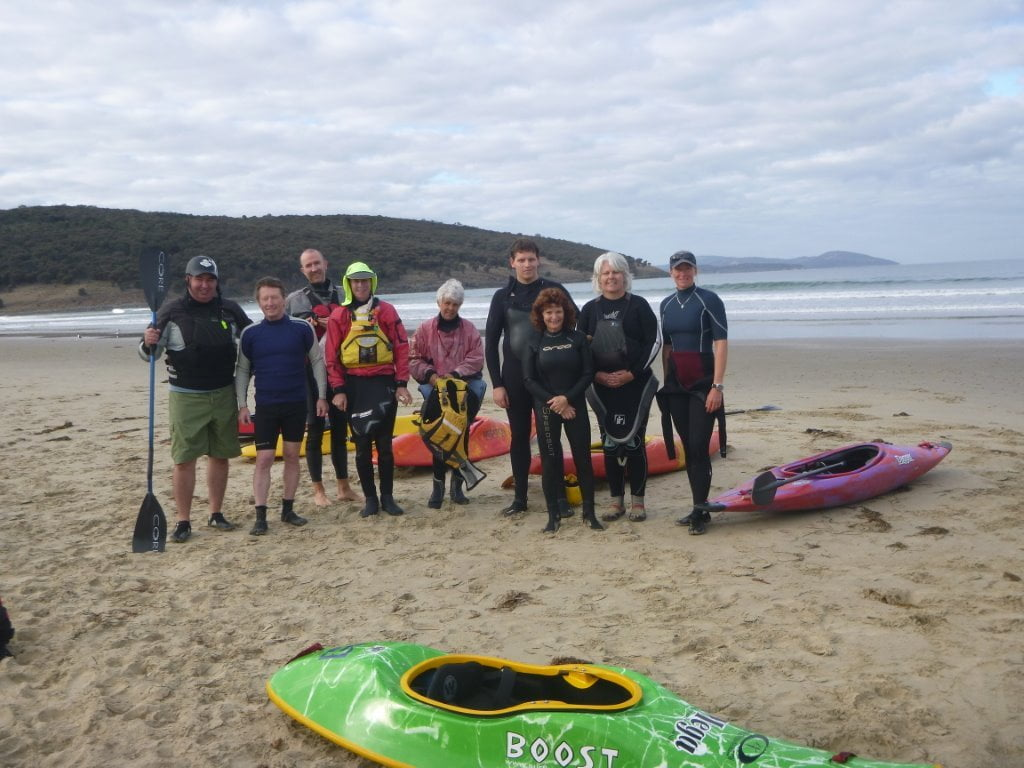 Mega Surf Kayak Camp in Tasmania last week.